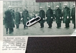 KORTRIJK..1939.. VERDIENSTELIJKE POLITIEDIENAARS GEDECOREERD VOOR MOEDIG GEDRAG - Zonder Classificatie