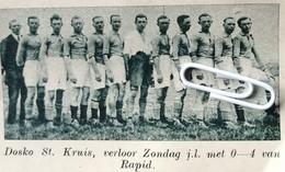 VOETBALSPORT..1936.. DOSCO ST. KRUIS - Zonder Classificatie