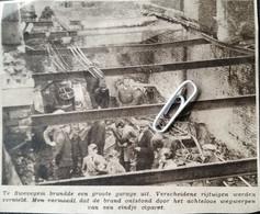 SWEVEGEM..1933.. EEN GROTE GARAGE BRANDDE UIT BRAND ONTSTOND DOOR HET WEG WERPEN VAN EEN CIGARET - Zonder Classificatie