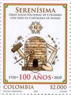 Lote 2020-8, Colombia, 2020, Sello, Stamp, Serenísima Gran Logia Nal De Colombia Con Sede En Cartagena De Indias, Mason - Colombia