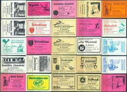 25 Alte Gasthausetiketten Aus Deutschland Sortiert Nach Alter Postleitzahl: 4800 - Bielefeld #249 - Matchbox Labels