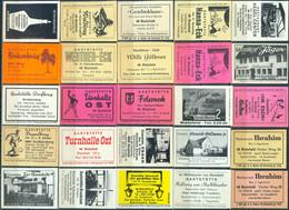 25 Alte Gasthausetiketten Aus Deutschland Sortiert Nach Alter Postleitzahl: 4800-4801 Bielefeld #250 - Matchbox Labels