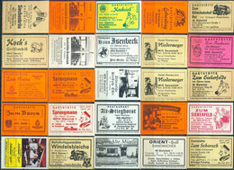 25 Alte Gasthausetiketten Aus Deutschland Sortiert Nach Alter Postleitzahl: 4800-4814 #251 - Matchbox Labels