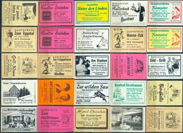 25 Alte Gasthausetiketten Aus Deutschland Sortiert Nach Alter Postleitzahl: 4800-4816 #252 - Matchbox Labels