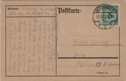 Göttingen 17.12.1923 Währungsreform > Jena - Frühes Verwendungsdatum Korbdeckel [Ausgabe 1.12.1923] - Covers & Documents