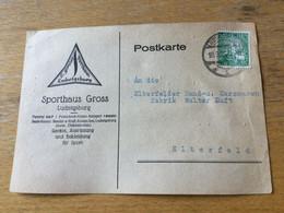 K15 Deutsches Reich 1925 Karte Von Ludwigsburg - Covers & Documents