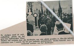 AVELGEM..1939..ZERKONTHULLING VAN RIJKSWACHTER REMI DEVLOO SLACHTOFFER VAN ZIJN PLICHT - Zonder Classificatie
