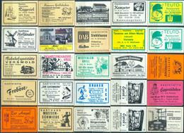 25 Alte Gasthausetiketten Aus Deutschland Sortiert Nach Alter Postleitzahl: 4800-4813 #253 - Matchbox Labels
