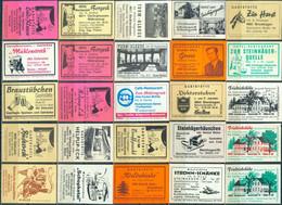 25 Alte Gasthausetiketten Aus Deutschland Sortiert Nach Alter Postleitzahl: 4801-4830 #254 - Matchbox Labels