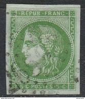 N°42B Vert Jaune Foncé Vif BE Cote>300€ - 1870 Bordeaux Printing