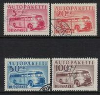 1952 Finland, Bus Parcel Stamps Complete Set Used. - Envios Por Bus