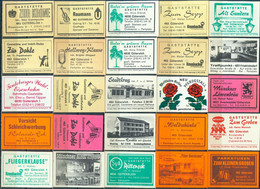 25 Alte Gasthausetiketten Aus Deutschland Sortiert Nach Alter Postleitzahl: 4830-4831 Gütersloh #255 - Matchbox Labels