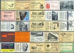 25 Alte Gasthausetiketten Aus Deutschland Sortiert Nach Alter Postleitzahl: 4830-4840 #256 - Matchbox Labels