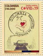 Lote 2020-12, Colombia, 2020, Sello, Stamp, Lucha Contra El Covid-19 En Colombia - Kolumbien
