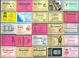 25 Alte Gasthausetiketten Aus Deutschland Sortiert Nach Alter Postleitzahl: 4811-4900 #257 - Matchbox Labels