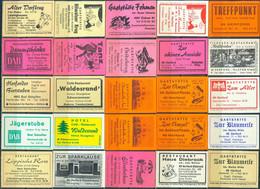 25 Alte Gasthausetiketten Aus Deutschland Sortiert Nach Alter Postleitzahl: 4900-4902 Herford #258 - Matchbox Labels