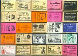 25 Alte Gasthausetiketten Aus Deutschland Sortiert Nach Alter Postleitzahl: 4902 Bad Salzuflen #259 - Matchbox Labels