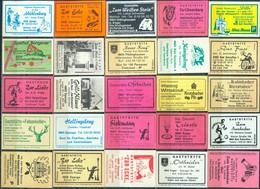 25 Alte Gasthausetiketten Aus Deutschland Sortiert Nach Alter Postleitzahl: 4902-4925 #260 - Matchbox Labels