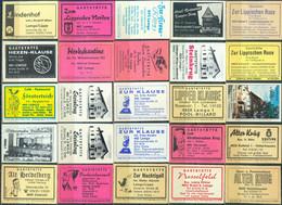 25 Alte Gasthausetiketten Aus Deutschland Sortiert Nach Alter Postleitzahl: 4920-4925 #261 - Matchbox Labels