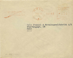 962  Ski Splitkein: Ema De La Norvège, 1948 - Laminated Ski Manufacturer Meter Stamp From Oslo, Norway - Ski