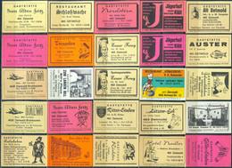 25 Alte Gasthausetiketten Aus Deutschland Sortiert Nach Alter Postleitzahl: 4930 Detmold #262 - Matchbox Labels