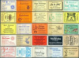 25 Alte Gasthausetiketten Aus Deutschland Sortiert Nach Alter Postleitzahl: 4200-4594 #263 - Matchbox Labels