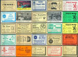 25 Alte Gasthausetiketten Aus Deutschland Sortiert Nach Alter Postleitzahl: 4572-4630 #264 - Matchbox Labels