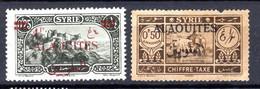 Colonies Françaises Alaouites 1926  N°36, Taxe N°6   0,30 €    (cote 4,50 €  2 Valeurs) - Oblitérés