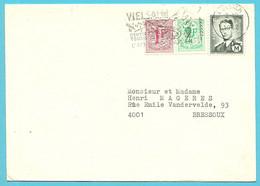 M1+859+1443 (mixte Frankeering) Op Brief Met Stempel VIELSALM - Militares (Sellos M)