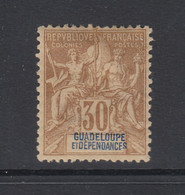 Guadeloupe, Scott 39 (Yvert 35), MHR - Unused Stamps