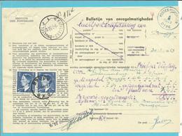 """911 (De Bast) Op BULLETIJN VAN ONREGELMATIGHEDEN / """"Luchtpostbriefwisseling"""", Stempel BRUGGE X (zeldzaam Dokument) - Briefe U. Dokumente"""