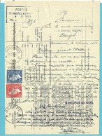 "910+911 Op BULLETIJN VAN ONREGELMATIGHEDEN / ""Luchtpostbriefwisseling"", Sterstempel * OTEPPE * +ROL+BURDINNE - Briefe U. Dokumente"
