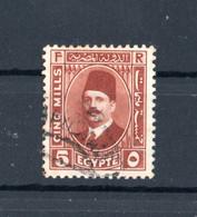 EGITTO :  Re Fuad I  -  1 Val. Usato   Yvert   122   Del. 1927 - Oblitérés
