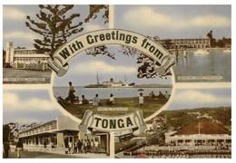 (FF 23) Very Old Postcard - Tonga Greetings - Tonga