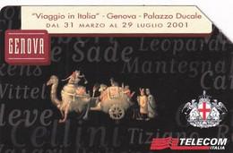 ITALY - Genova, Linee D'Italia 2001/Liguria, Exp.date 30/06/03, Used - Öff. Werbe-TK