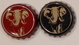 2 Different Vietnam Viet Nam HUDA EXPORT Elephant Used Beer Bottle Crown Cap Caps / Kronkorken / Capsule / Chapa / Tappi - Bière