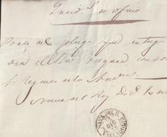 1869-CARTA-PREFILATELIA.Frontal De Plica Judicial Del Correo Interior De NAVA DEL REY. Fechador NAVA DEL R. / VALLADOLID - ...-1850 Préphilatélie