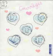 France Oblitération Cachet à Date BF N° F 5026 - Saint Valentin - Coeurs De Courrèges - Afgestempeld