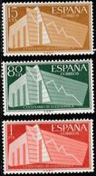 1956. ** Edifil: 1196/98. I CENTENARIO DE LA ESTADISTICA ESPAÑOLA - 1961-70 Ongebruikt