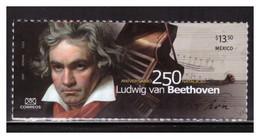 2020 MÉXICO 250 Años Del Nacimiento De Ludwig Van Beethoven MNH SELF-ADHERIBLE  MUSICIAN COMPOSER, MUSICAL INSTRUMENTS - Mexico