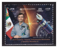 2020 MÉXICO 35 Aniv. Primer Astronauta Mexicano Y Satélite Morelos II, RODOLFO NERI VELA  MNH ASTRONOMY, SPACE SATELLITE - Mexico