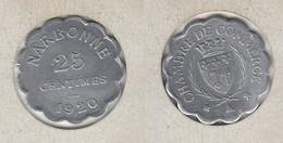 FRANCE  Chambre De Commerce NARBONNE 25c 1920 - Notgeld