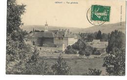 21 GENAY LE CHATEAU VUE GENERALE 1910 CPA 2 SCANS - Otros Municipios