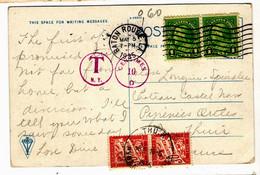 42452 - De BATON ROUGE Avec Timbres Taxe - Briefe U. Dokumente