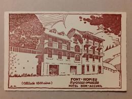 CPA - 66 - FONT-ROMEU - HOTEL BON-ACCUEIL - Andere Gemeenten