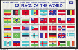 B- 1953 Flags Of The World 88 Diff. For Stamps Album MNH** - Non Classificati