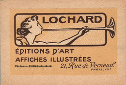 Carte D'Editeur - Publicité Editions D'Art Lochard, Paris - Affiches Illustrées - Pubblicitari