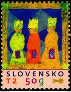 Slovaquie 2016 Poste De NOEL Dessin D'enfant De Komarno : Les Rois Mages - Neufs
