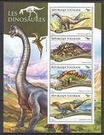 TG158 2015 TOGO TOGOLAISE FAUNA REPTILES PREHISTORIC ANIMALS DINOSAURS KB MNH - Prehistorics