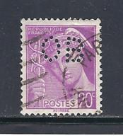 Y & T  N° 410  Perforé   O B  3     Ind  3 (EC) - Gezähnt (Perforiert/Gezähnt)
